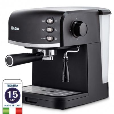 """Кофеварка экспресс/капп.950Вт 15 бар.1,5 л, подача пара для взбивания густой пены """"MAGIO"""" MG-963"""