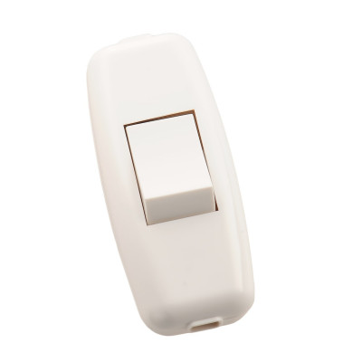 Выключатель навесной для бра белый LEZARD 715-1100-611