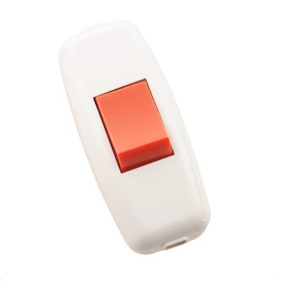 Выключатель навесной для бра бело-красный LEZARD715-1101-611