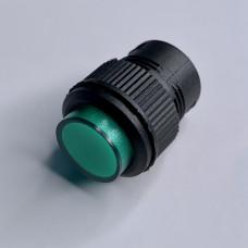 """Кнопка LSW13 круглая зелёная с LED подсв. ON-OFF """"LEMANSO"""" R16-503AD"""