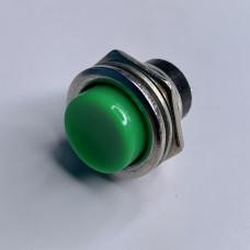 "Кнопка LSW14 круглая зелёная металл OFF-(ON) ""LEMANSO"" DS-212"