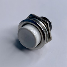 "Кнопка LSW14 круглая белая металл OFF-(ON) ""LEMANSO"" DS-212"