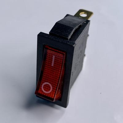"Переключатель LSW01 узкий красный с подсв. ""LEMANSO"" KCD3-102N"
