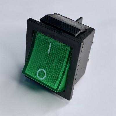 """Переключатель LSW02 большой зелёный с подсв. """"LEMANSO"""" KCD2-201/N"""