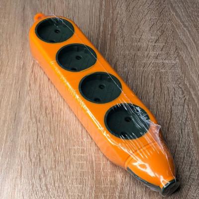 "Колодка 4 гнезда б/з Апельсин  250V макс 2500W оранжевый ""LEMANSO"" LMK75003"