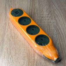 "Колодка 3 гнезда б/з Апельсин 10A/250V 2USB 2.1A макс 2500W оранжевый ""LEMANSO"" LMK75005"
