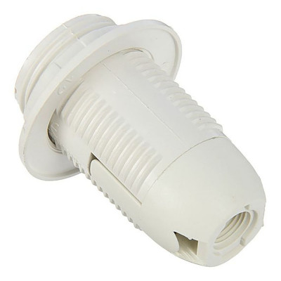 """Патрон Е14 пластиковый, резьба + кольцо, белый """"LEMANSO"""" LM106"""