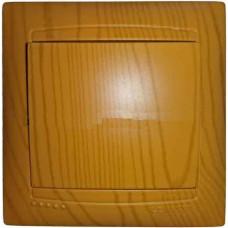 """Выключатель 1-кл. внутренний ольха """"LEMANSO Сакура"""" LMR1401"""