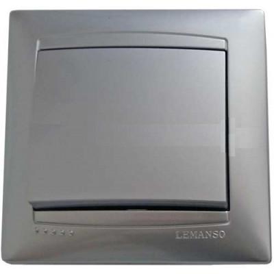"Выключатель 1-кл. внутренний серебро ""LEMANSO Сакура"" LMR1301"
