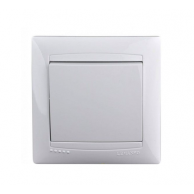 """Выключатель 1-кл. внутренний белый """"LEMANSO Сакура"""" LMR1001"""