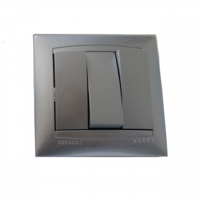 "Выключатель 3-кл. внутренний серебро ""LEMANSO Сакура"" LMR1308"