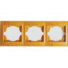 """Рамка 3-я горизонтальная ольха """"LEMANSO Сакура"""" LMR1412"""