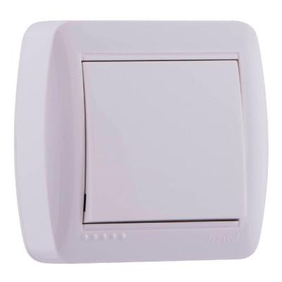 Выключатель 1-кл. наружный белый LEZARD Demet 711-0200-100