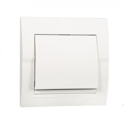 Выключатель 1-кл. внутренний белый LEZARD Deriy 702-0202-100