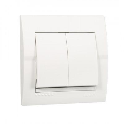 Выключатель 2-кл. внутренний белый LEZARD Deriy 702-0202-101