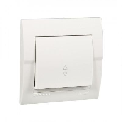 Выключатель 1-кл. внутренний проходной белый LEZARD Deriy 702-0202-105