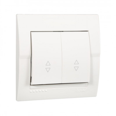Выключатель 2-кл. внутренний проходной белый LEZARD Deriy 702-0202-106