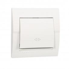 Выключатель 1-кл. внутренний промежуточный белый LEZARD Deriy 702-0202-107