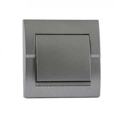 Выключатель 1-кл. внутренний темно-серый металлик LEZARD Deriy 702-2929-100