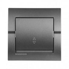 Выключатель 1-кл. внутренний проходной темно-серый металлик LEZARD Deriy 702-2929-105