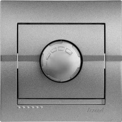 Диммер 800 Вт внутренний темно-серый металлик LEZARD Deriy 702-2929-115