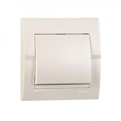 Выключатель 1-кл. внутренний жемчужно-белый металлик LEZARD Deriy 702-3030-100