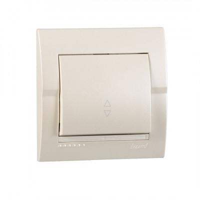 Выключатель 1-кл. внутренний проходной жемчужно-белый металлик LEZARD Deriy 702-3030-105