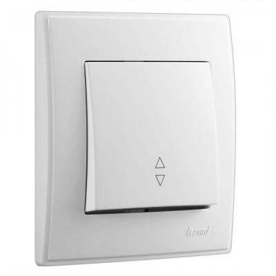 Выключатель 1-кл. внутренний проходной белый LEZARD Lesya 705-0202-105