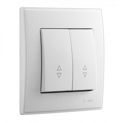 Выключатель 2-кл. внутренний проходной белый LEZARD Lesya 705-0202-106