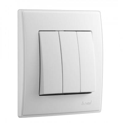 Выключатель 3-кл. внутренний белый LEZARD Lesya 705-0202-109