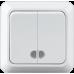 """Выключатель 2-кл. с подсветкой наружный белый """"LIDER Legend"""" LVO10-781"""