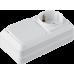 """Блок наружный выключатель 1-кл. + розетка с/з  """"LIDER Legend"""" LVR10-767"""