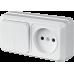 """Блок наружный выключатель 2-кл. + розетка б/з  """"LIDER Legend"""" LVR10-799"""