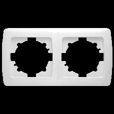 """Рамка 2-я горизонтальная белая """"Q-MAX Стандарт"""" 572"""