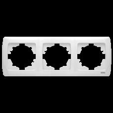 """Рамка 3-я горизонтальная белая """"Q-MAX Стандарт"""" 573"""