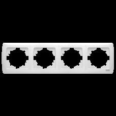 """Рамка 4-я горизонтальная белая """"Q-MAX Стандарт"""" 574"""