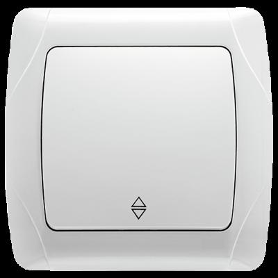 """Выключатель 1-кл. проходной внутренний белый """"Q-MAX Стандарт"""" 533"""