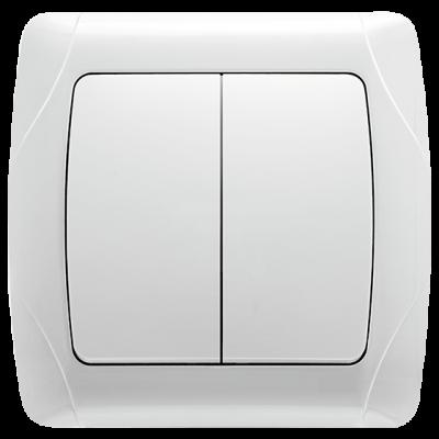 """Выключатель 2-кл. внутренний белый """"Q-MAX Стандарт"""" 502"""