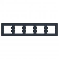 "Рамка 5-я горизонтальная антрацит ""SCHNEIDER Asfora"" EPH5800571"