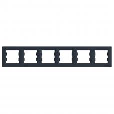 "Рамка 6-я горизонтальная антрацит ""SCHNEIDER Asfora"" EPH5800671"