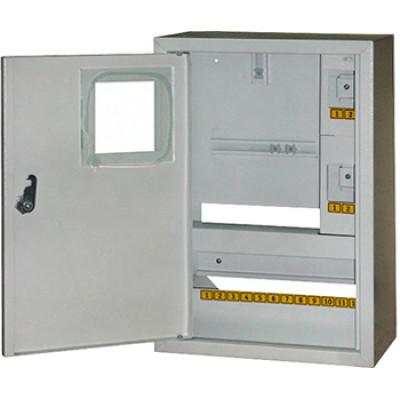 "Корпус e.mbox.stand.n.f1.16.z металлический, под 1-ф. счётчик, 16 мод., навесной, с замком ""E.NEXT"" s0100009"