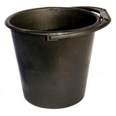 Ведро хозяйственное черное с мерной шкалой 12 литров №22