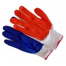 Перчатки стрейчевые с нитриловым покрытием синие или оранжевые (12шт.)