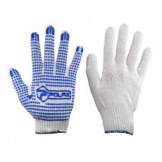"Перчатки белые плотные (52г) ""POLAX"" 1000-103"