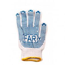 Перчатки FAR с ПВХ точкой белая (12шт.)