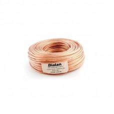 """Акустический кабель CCA 2x1,00 мм Прозрачный ПВХ 100 м """"DIALAN"""" 2118"""