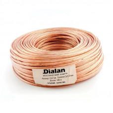 """Акустический кабель CCA 2x1,50 мм Прозрачный ПВХ 100 м """"DIALAN"""" 2119"""