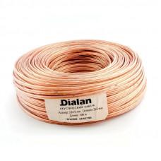 """Акустический кабель CCA 2x2,00 мм Прозрачный ПВХ 100 м """"DIALAN"""" 2120"""