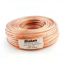 """Акустический кабель CCA 2x2,50 мм Прозрачный ПВХ 100 м """"DIALAN"""" 2121"""
