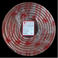 Кабель телевизионный 64% центр жила ССS 1,02, фольга медь 64 жил силикон прозрачный EH-6